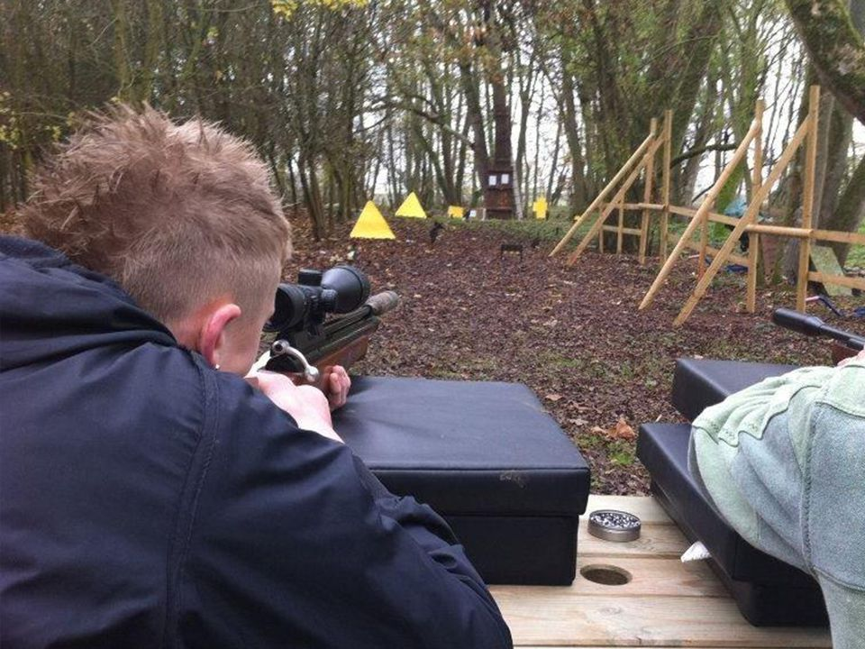 Air Rifle Shooting Range Close Up
