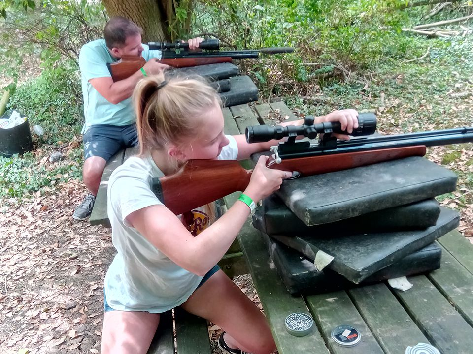 Air Rifle Shooting Family