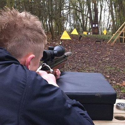Air Rifle Shooting Close Up