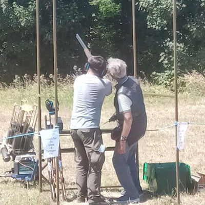 Clay Target Shooting Close Up