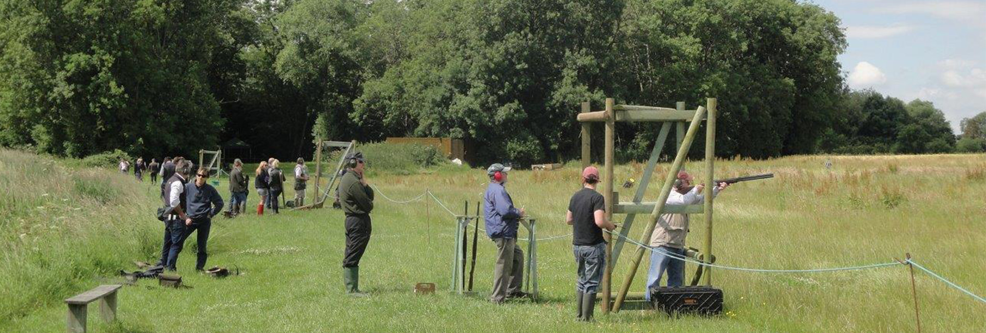 Clay Target Shooting Outdoors